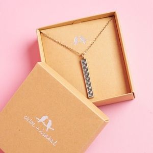 Chloe + Isabel Pavé Bar Long Pendant Necklace